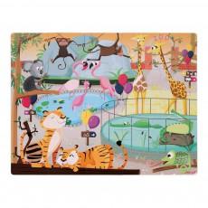 Puzzle tactile Une journée au Zoo Multicolore