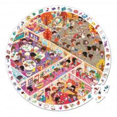 Puzzle observation Vive l'école Multicolore