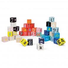 Kubix - 40 cubes lettres et chiffres Multicolore