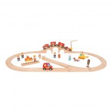 Train express Pompiers Multicolore