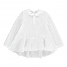 Blouse Col Claudine Blanc
