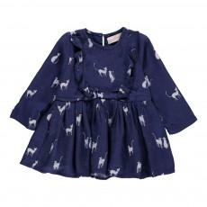 Robe Volants Chats Diana Bleu marine