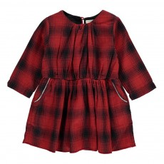 Robe Carreaux Ceres Rouge