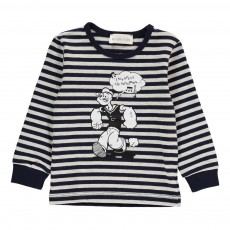 T-Shirt Rayé Popeye Bleu marine