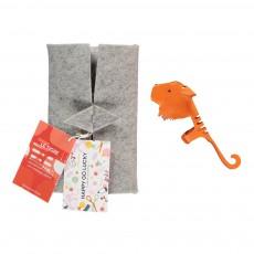 Marionnette à doigt en cuir Tigre Orange