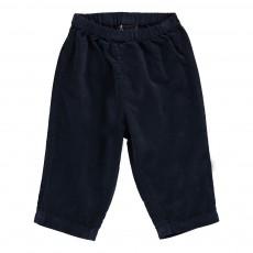 Pantalon Velours Futur Bleu marine