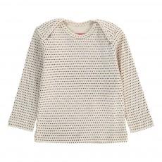 T-Shirt Brassière Pois Ecru