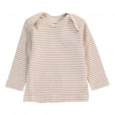 T-Shirt Brassière Pois Rose pâle