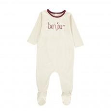 """Pyjama """"Bonjour"""" Ecru"""