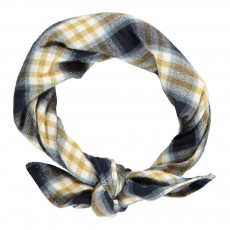 Foulard Carreaux Jaune