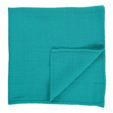 Lange Gauffré Bleu turquoise