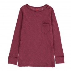 T-Shirt Chiné Poche Bordeaux