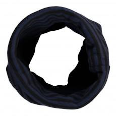 Echarpe Tube Rayée Acrino Bleu marine