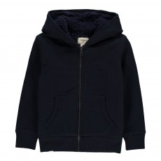 Sweat Capuche Fourré Bisty Bleu marine