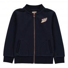Sweat Zippé Patch Azax Bleu marine