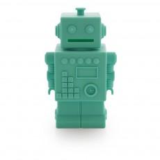 Tirelire Robot Robert Bleu turquoise