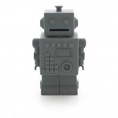 Tirelire Robot Robert Gris foncé