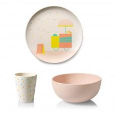 Set vaisselle Glace en bambou Multicolore
