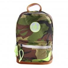 Sac à Dos Retro Camouflage Vert kaki
