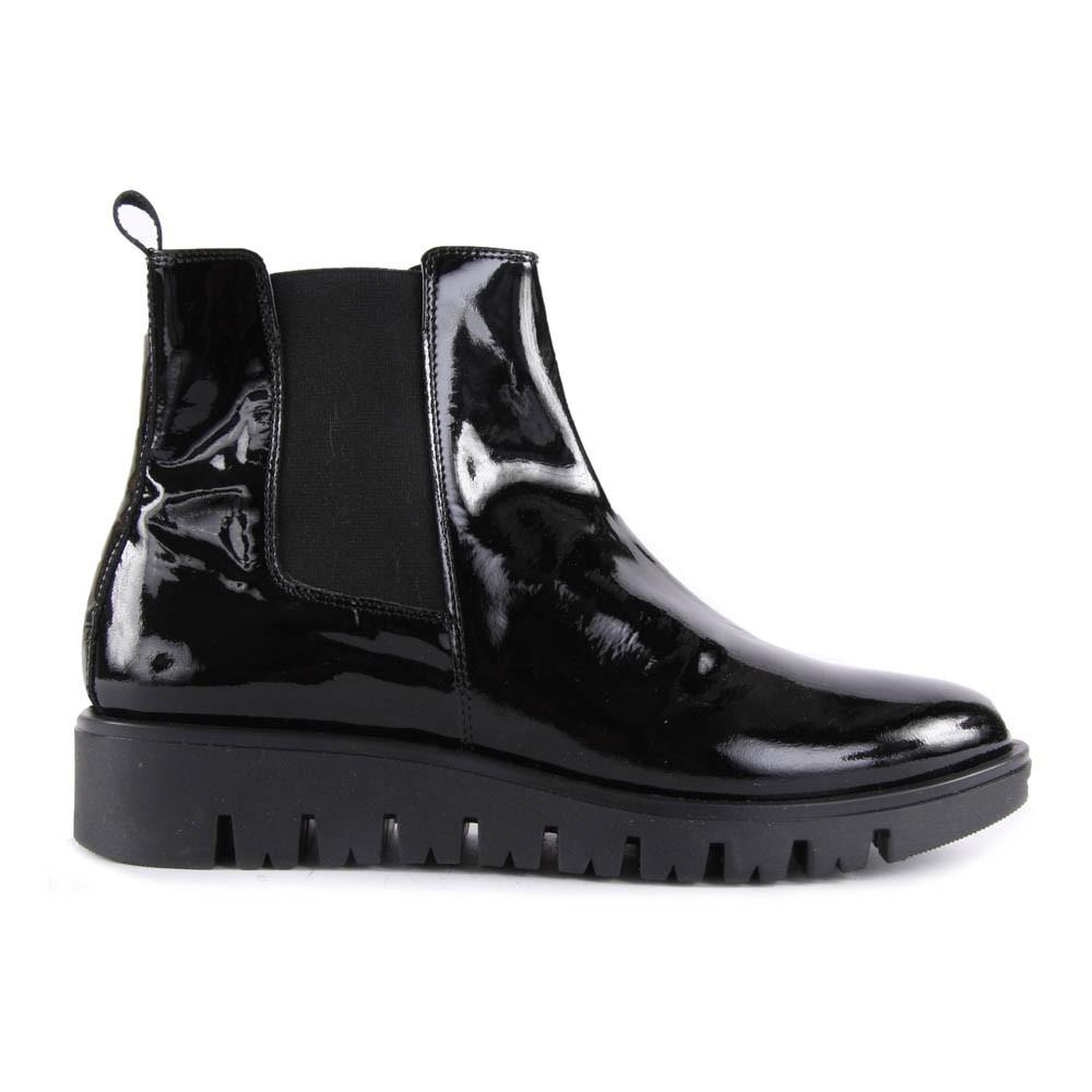 boots cuir vernis elastique semelle epaisse noir gallucci chaussures smallable. Black Bedroom Furniture Sets. Home Design Ideas