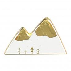 Pins Email Montagne Lhippolyte Blanc