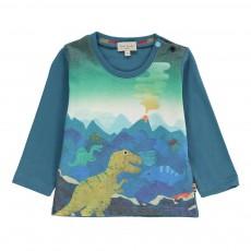 T-shirt Dinosaures Mika Bleu pétrole