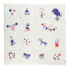 Tapis pour bébé ouatiné Circus 100x100 cm Multicolore