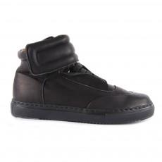 Baskets Cuir Zippées Akranes Noir