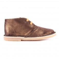 Desert Boots Paillettées Bronze