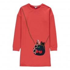Robe Trompe L'Oeil Sac Rouge