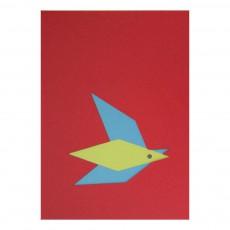 Bloc dessin A5 pochoir oiseau 16 feuilles Rouge