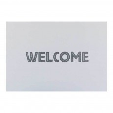 Carte double A6 Welcome Blanc