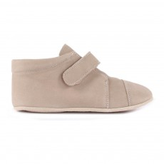 Chaussons Cuir Scratch Taupe