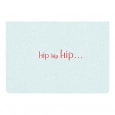 Carte double A6 Hip Hip Hip Bleu ciel