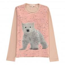 T-Shirt Ourson Lola Rose pâle