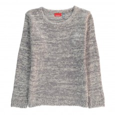 Pull Col Rond Chiné Annie Gris