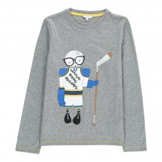 T-shirt Mr Marc Hockeyeur Gris chiné