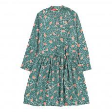 Robe Fleurs Adèle Vert