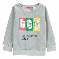 Sweat Born To Be Artist Luna Gris chiné
