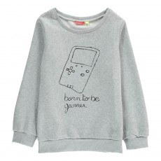 Sweat Born To Be Gamer Luna Gris chiné