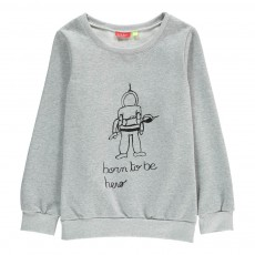 Sweat Born To Be a Hero Luna Gris chiné