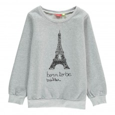 Sweat Born To Be Builder Luna Gris chiné