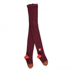 Collants Chat Bordeaux