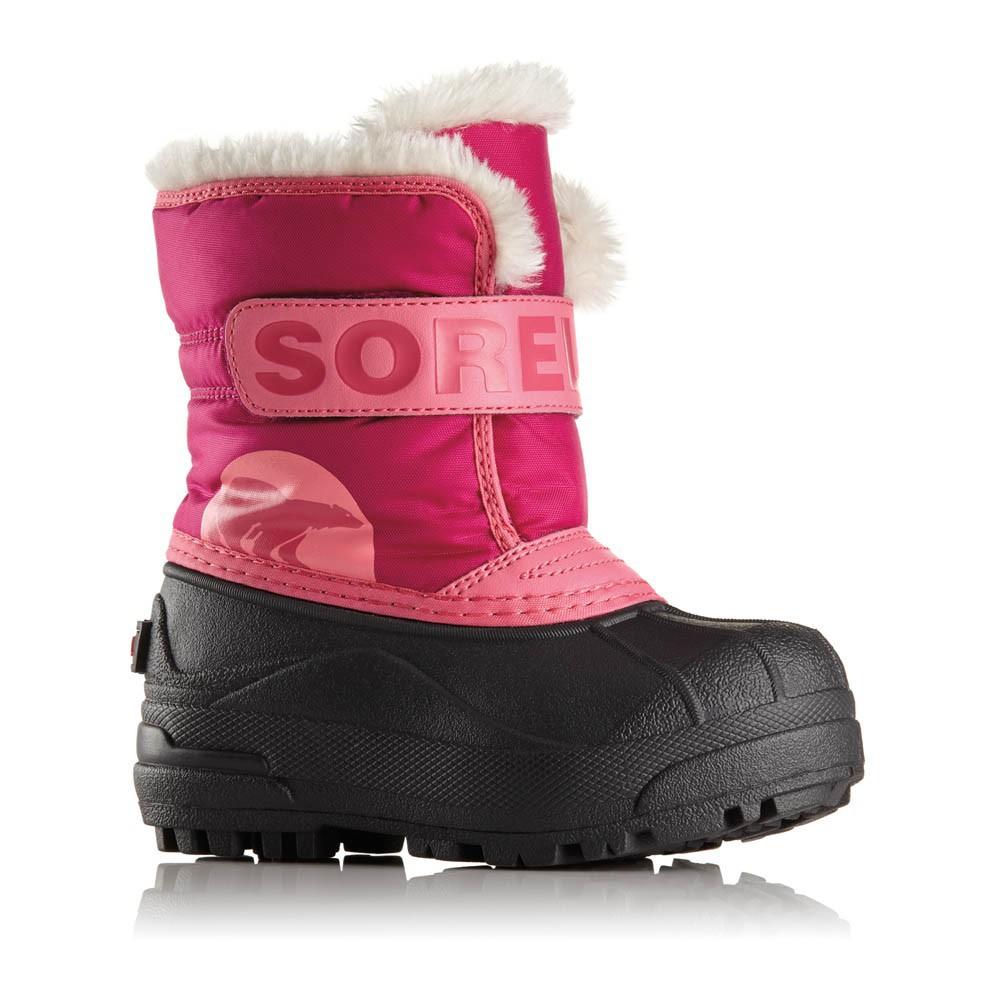 Bottes nylon fourr es snow commander rose sorel for Commander rose