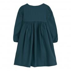 Robe Gaufrée Bleu