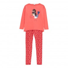 Pyjama Oiseau Léopard Rouge