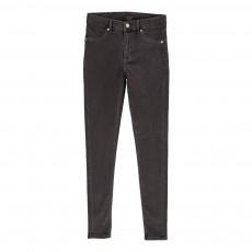 Jean Skinny Taille Haute High Spray Coton Bio Gris foncé
