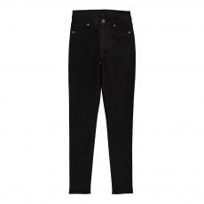 Jean Skinny Taille Haute High Spray Coton Bio Noir