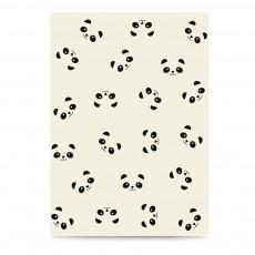 Carnet Pandas A6 Ecru