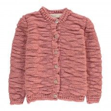 Cardigan Grosse Maille Clouds Vieux Rose